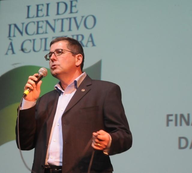 Odecir Prata, do Ministério da Cultura, abordou a Lei Rouanet e o Vale Cultura